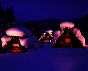 白川郷雪の写真